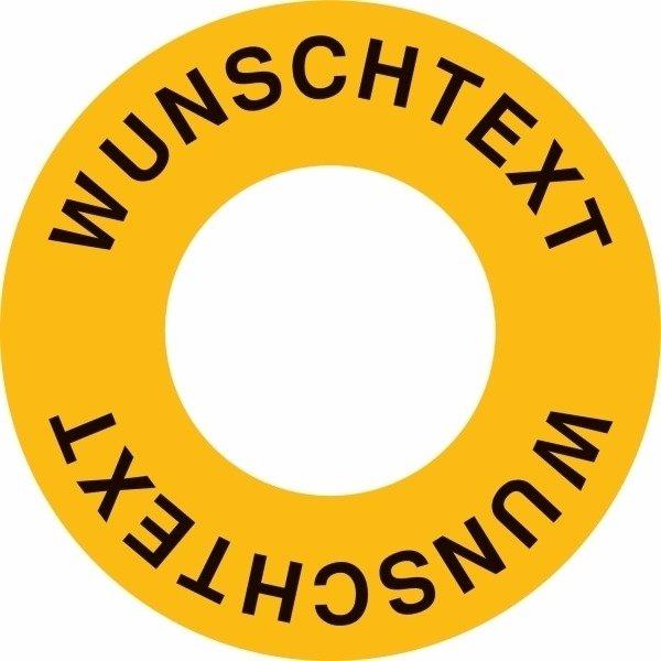 Kreis-Etiketten für Notschalter mit Text nach Wunsch
