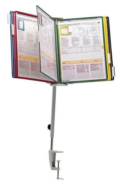 Tischsäule für Stahldraht-Sichttafel-Systeme