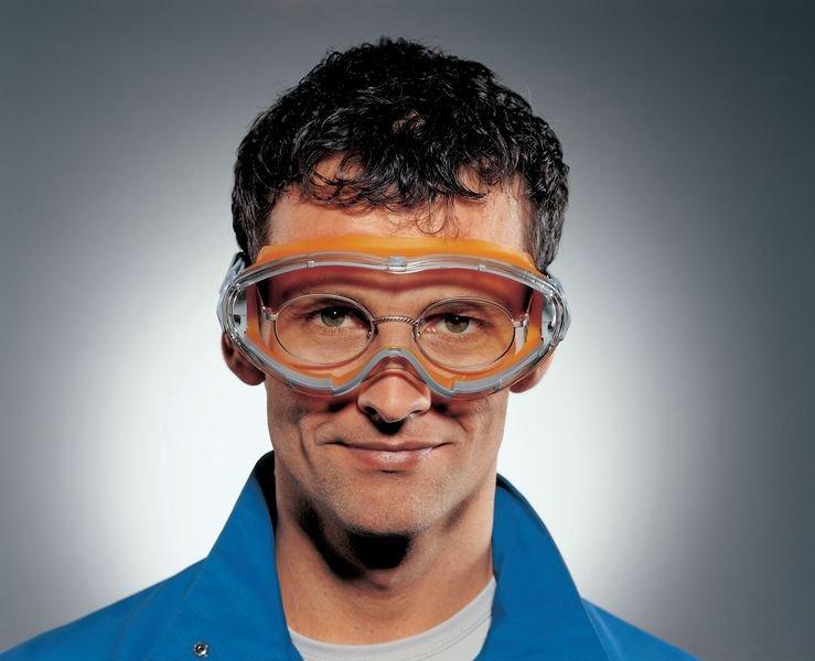 uvex Vollsichtbrillen mit Kopfband, Klasse FSB, EN 170
