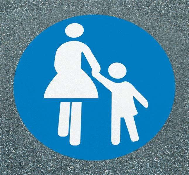 Sonderweg Fußgänger – Asphaltfolie zur Straßenmarkierung, R10 gemäß DIN 51130/ASR A1.5/1,2