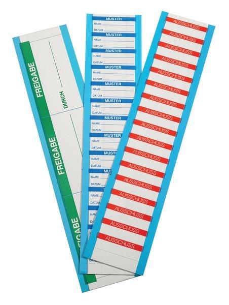 Gesperrt Auftragsnummer - Etiketten auf Karten, beschriftbar - Qualitätsaufkleber und farbige Klebeetiketten