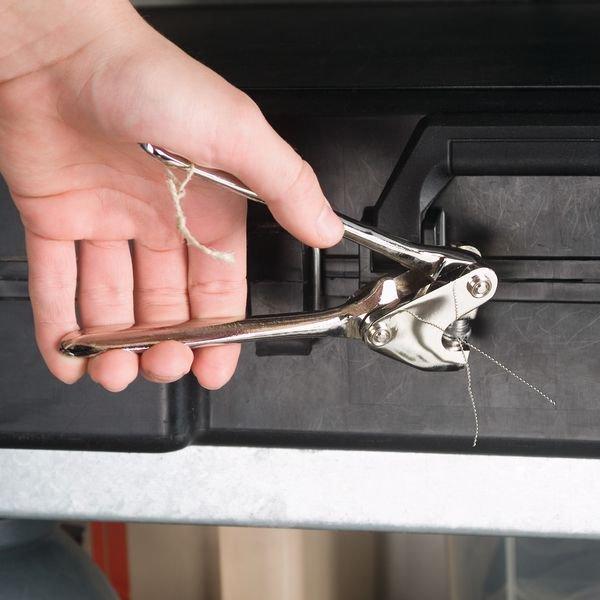 Plombenzangen mit Druckplatten, ohne Gravur