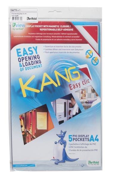 Magnetverschluss-Infotaschen, selbstklebend, farbig sortiert