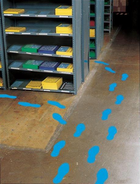 Bodenmarkierung Fußabdrücke