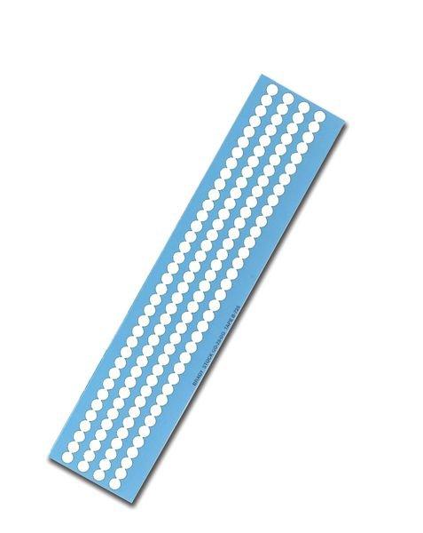 Mini-Folienetiketten, blanko, auf Bogen