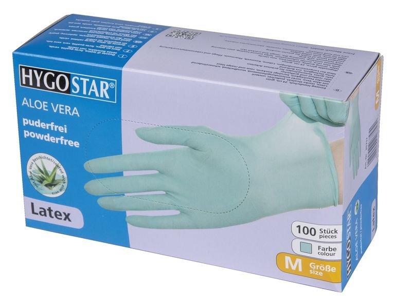 Latex-Einmalhandschuhe, Aloe Vera, puderfrei