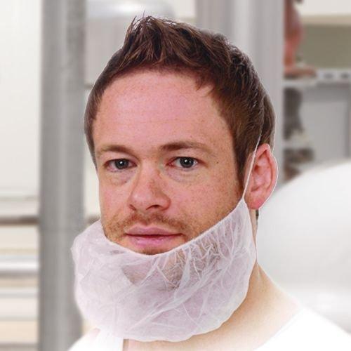 Bartschutz, Vlies mit Gummibändern