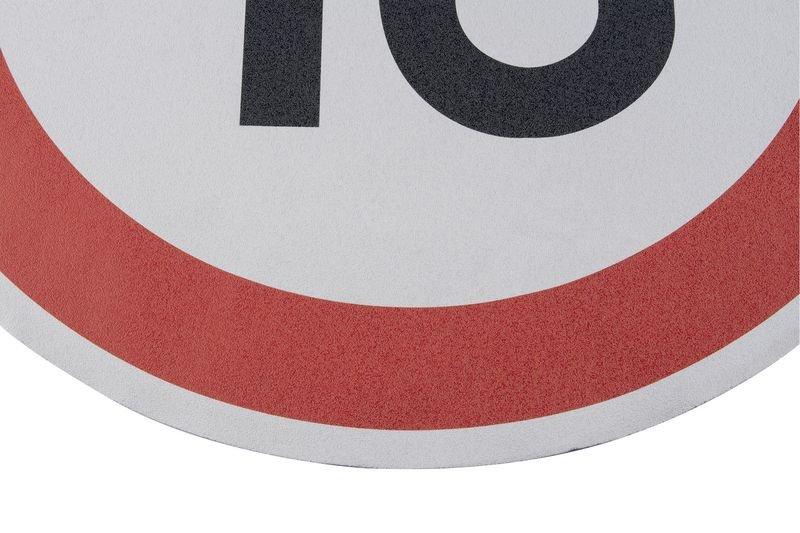 Höchstgeschwindigkeit 10 – Asphaltfolie zur Straßenmarkierung, R10 gemäß DIN 51130/ASR A1.5/1,2 - Parkplatzmarkierung