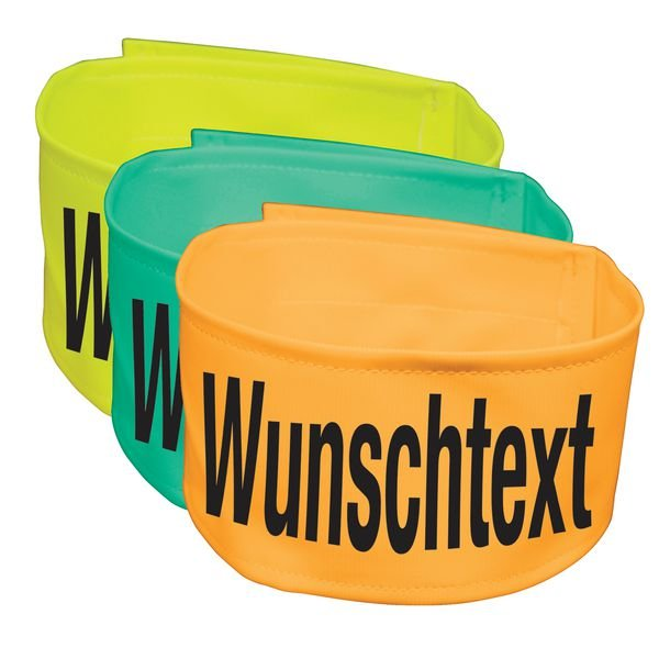 Warnbinden mit Text nach Wunsch, fluoreszierend