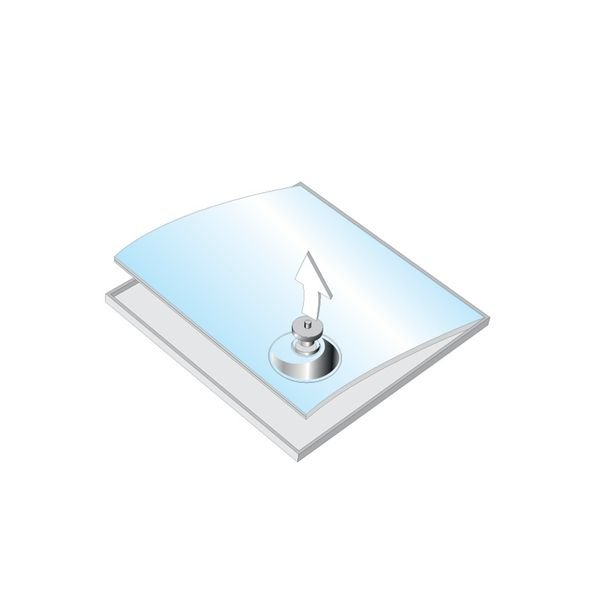 Hinweis-Stele - Prospekthalter und Tischaufsteller