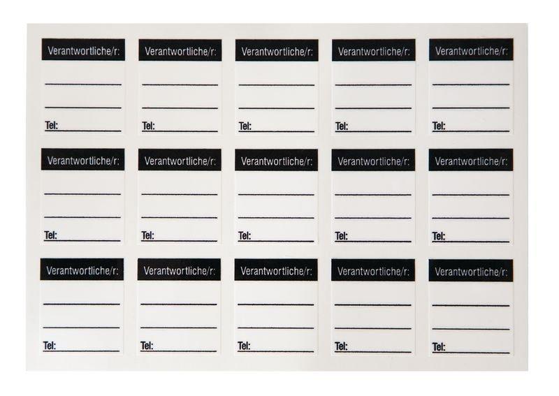 Verantwortliche/r: – Lockout-Sticker für Schlösser, auf Bogen