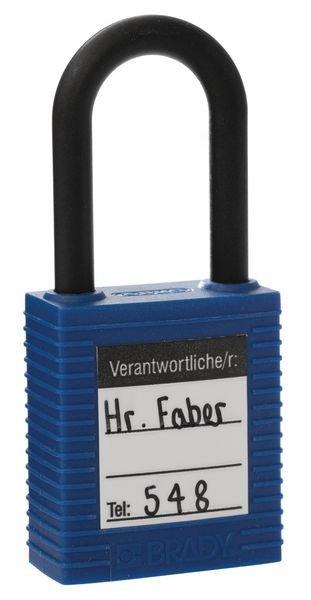 Verantwortliche/r: – Lockout-Sticker für Schlösser, auf Bogen - Wartungsanhänger und Lockout-Etiketten