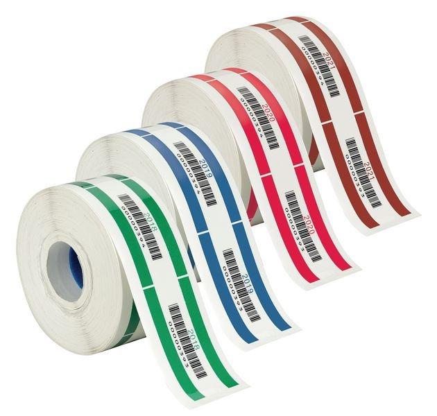 Barcode Prüfetiketten in Jahresfarben