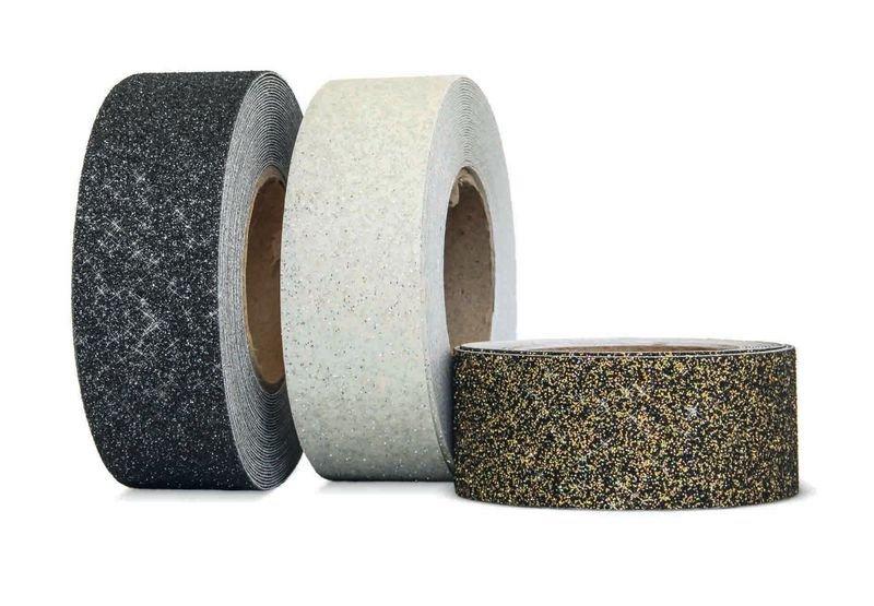 Antirutsch-Beläge, in Glitzerfarben, auf Rolle, R13 gemäß DIN 51130/ASR A1.5/1,2 - Bodenbeläge