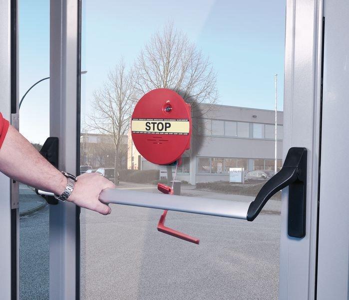 Türwächter mit Alarm für Notausgangstüren, mit Stangengriff - Brandschutztür- und Fluchttürsicherung