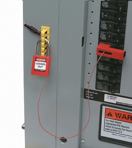 Snap-On-Verriegelung für Schutzschalter - EZ-Panel-Loc™-System - Verriegelung für elektrische Gefahren