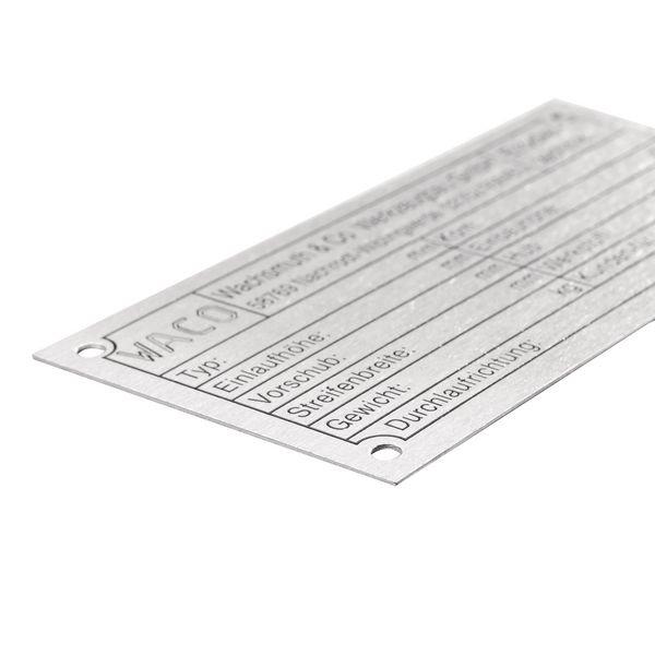 Metall-Typenschilder, bedruckt mit Wunschlogo- und text, aus Edelstahl und Messing - Betriebskennzeichnung und Hinweisschilder