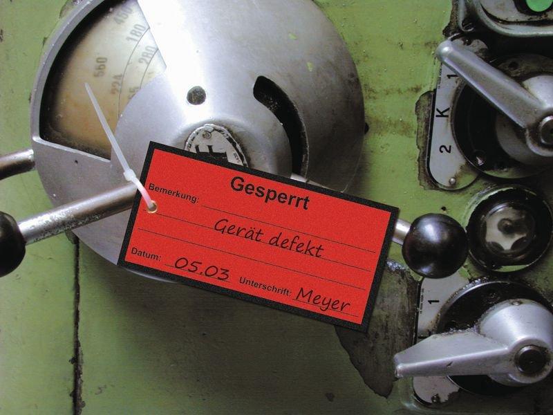 Reparatur - Anhänger zur Qualitätssicherung