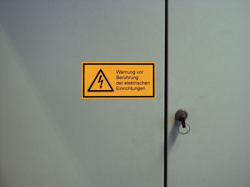 Symbol Blitz - Warnsymbol-Kombi-Etiketten, Elektrotechnik | SETON