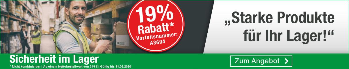 19 % Rabatt auf Produkte für Ihr Lager!