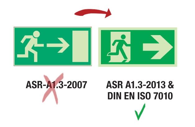 ASR A1.3 DIN 67510 Langnachleuchtend