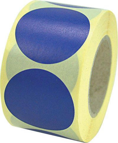 Blaue Blanko-Aufkleber