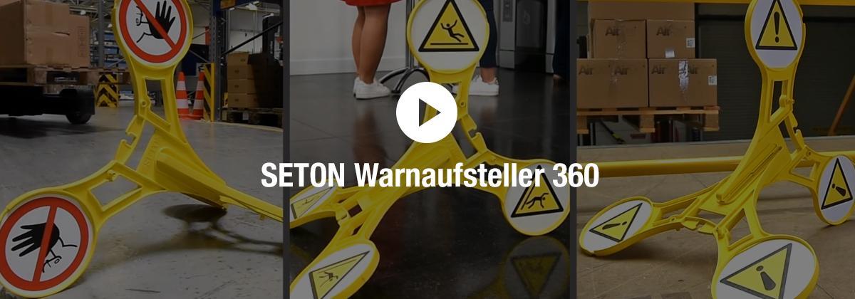 SETON Warnaufsteller 360 Video