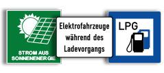 Elektrotankstellen Schilder