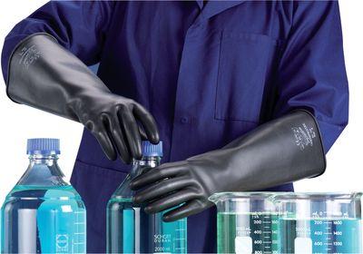 Handschuhe Gummi langer Arm