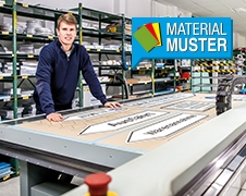 Materialmuster anfordern