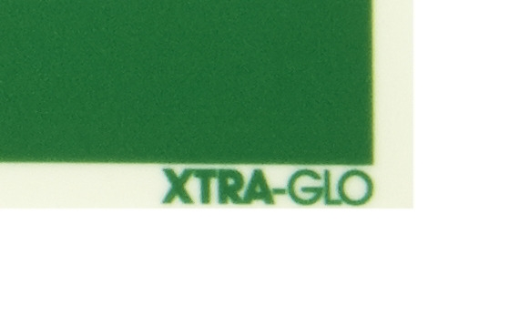 XTRA-GLO Schild Zoom auf Logo