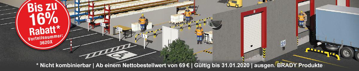 Sicherheit im Betrieb - Jetzt 16 % Rabatt auf viele Produktbereiche mit der Vorteilsnummer 3620X sichern!
