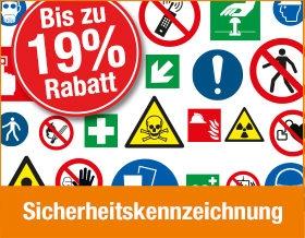 19 % Rabatt auf Sicherheitskennzeichnung sichern