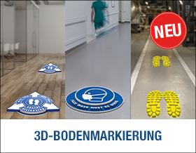 3D-Bodenmarkierung - Auffällig anders