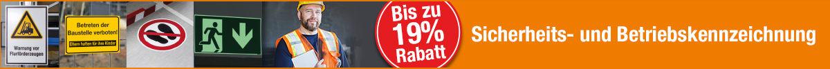 Sicherheits- und Betriebskennzeichnung - 19 Prozent Rabatt sichern