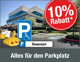 10 % Rabatt auf Produkte für den Parkplatz