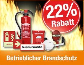 Betrieblicher Brandschutz - Jetzt 22 % Rabatt sichern!
