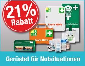 21 % Rabatt auf Erste-Hilfe-Produkte