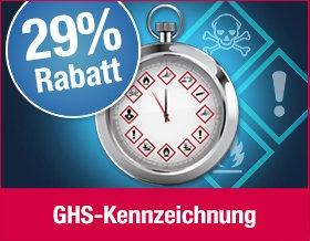 29 % Rabatt auf GHS-Kennzeichnung