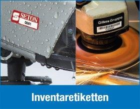 Inventaretiketten für jede Anwendung