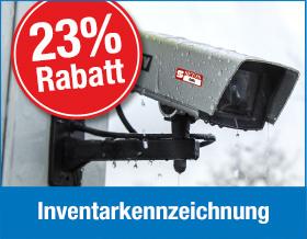 Jetzt 23 % Rabatt auf Inventarkennzeichnung sichern - Vorteilsnummer 3609X