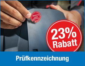 Jetzt 23 % Rabatt auf Prüfkennzeichnung für 2020 sichern - Vorteilsnummer 3609X