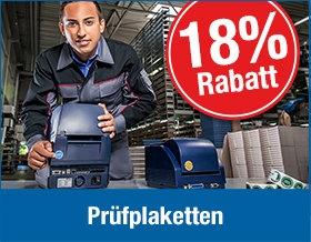 18 % Rabatt auf Prüfplaketten