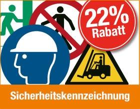 Sicherheitskennzeichnung - Jetzt 22 % Rabatt sichern!