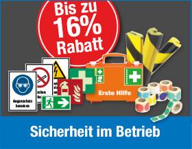 Bis zu 16 % Rabatt auf Produkt für die Sicherheit im Betrieb - Jetzt Risiken minimieren und sparen!