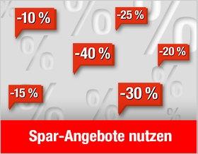 Spar-Angebote - bis zu 40 % sparen