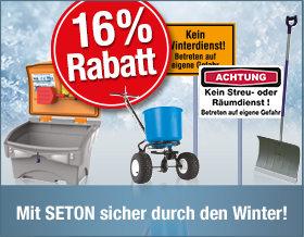 16 % Rabatt auf Winterdienst-Produkte