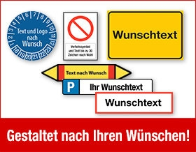 Schilder und Etiketten online gestalten