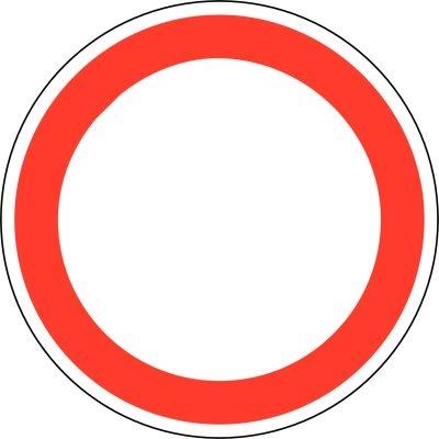 Verkehrsschilder Verbot für Fahrzeuge aller Art