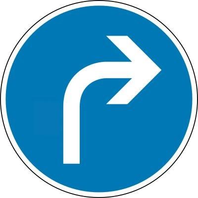 Schild Vorgeschriebene Fahrtrichtung hier rechts